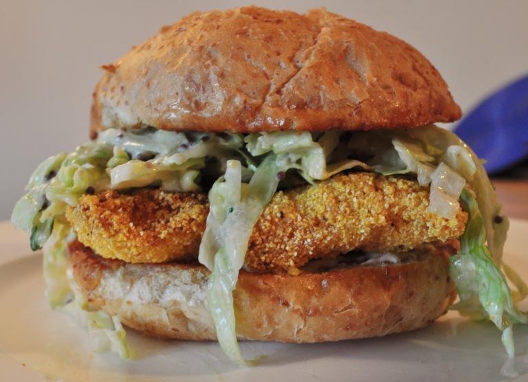 real walleye sandwich
