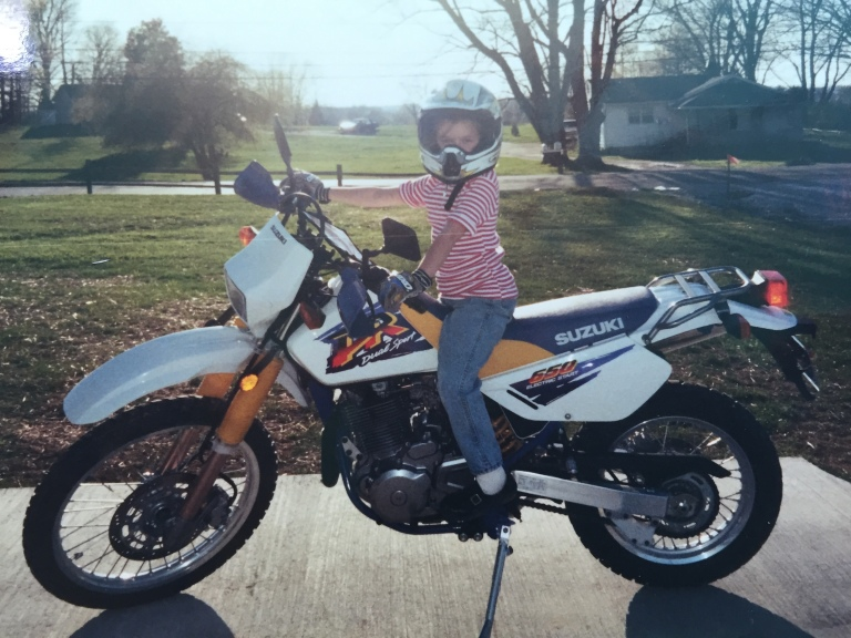DR650 #1 and my daughter Cailin